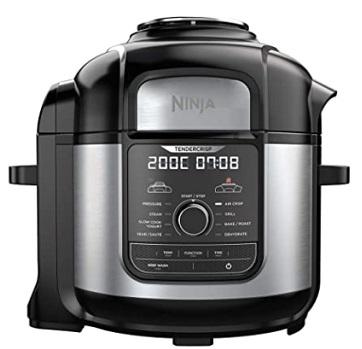 Ninja Foodi OP500EU Olla a presión y Freidora de aire 9 en 1, 7.5 litros, 1760 W, Negro